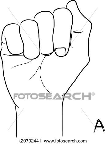 Sign Language And The Alphabetthe Letter A Clipart K20702441