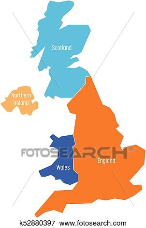 Map Of England Wales Scotland.United Kingdom Uk Of Great Britain And Northern Ireland Map