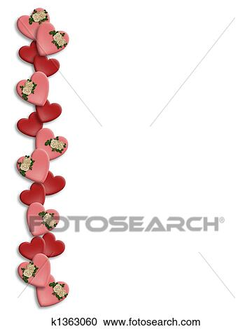 stock illustrations of valentine border k1363060 search clipart