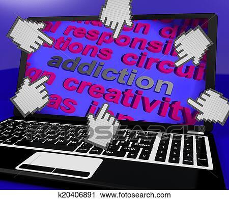 Clipart verslaving draagbare computer scherm middelen for Driften betekenis