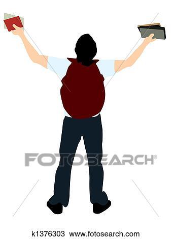 Dessin Etudiant Universite A Livres K1376303 Recherchez Des
