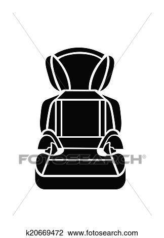 Baby Car Seat Vector Illustration