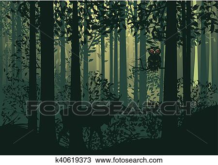 Abstract Forest Clip Art