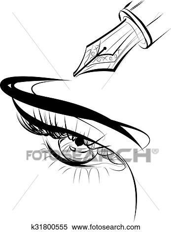 Clipart Of Eye Eps K31800555