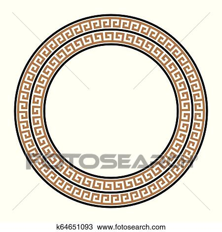 Greek Key Round Frame. Greek Border. Vector Royalty Free Cliparts, Vectors,  And Stock Illustration. Image 128617718.