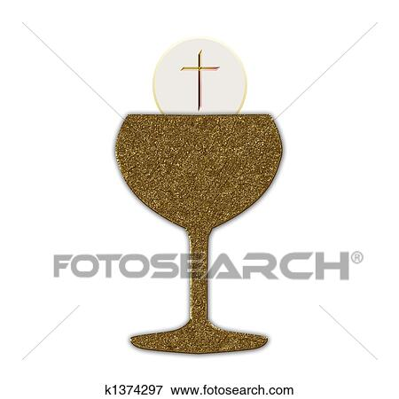 Stock Illustration Of Holy Communion K1374297 Search Eps Clipart