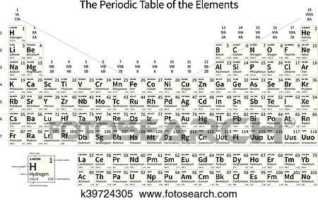 clipart negro y blanco monocromo tabla peridica de el elementos - Tabla Periodica En Negro Y Blanco