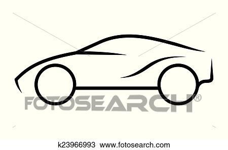 Clipart - auto, strichzeichnung k23966993 - Suche Clip Art ...
