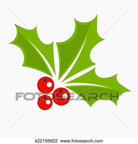 Clipart Bacca Agrifoglio Natale Icona K22195622 Cerca Clipart
