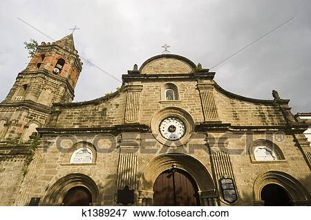 Church of Barasoain in Bulacan, North of Manila, Philippines Stock Photo