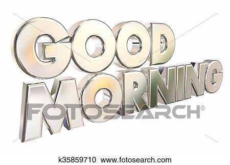 Guten Morgen 3d Wörter Herzlich Willkommen Einführung