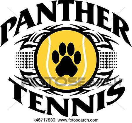 Pantera Tenis Clipart K46717830 Fotosearch