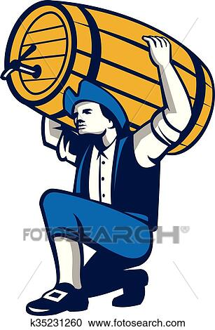 clipart of american patriot lifting beer keg isolated retro rh fotosearch com patriotic clipart patriotic clip art background