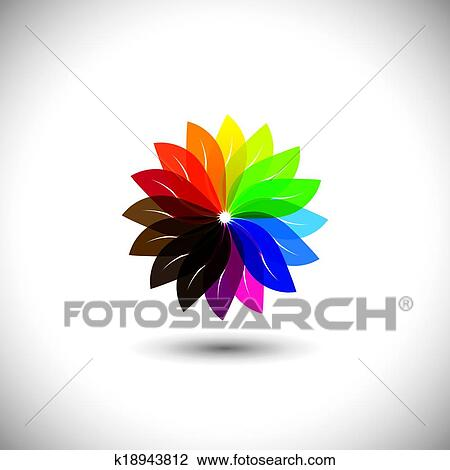 Clipart Of Flower Color Wheel Vector Icon K18943812 Search Clip