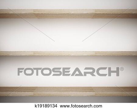 Decorare Mensole Legno : Disegni legno mensola su parete di interno decorato