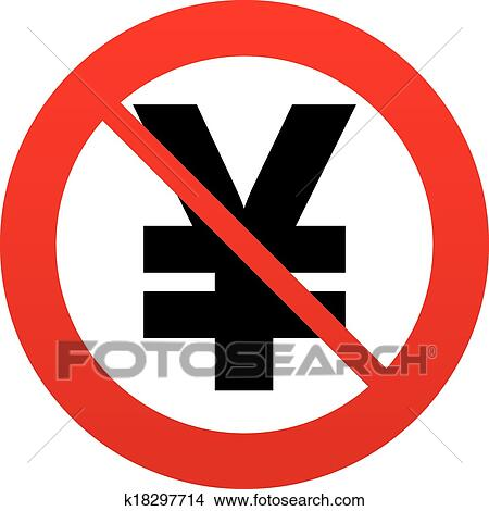 Clipart Of No Yen Sign Icon Jpy Currency Symbol K18297714 Search
