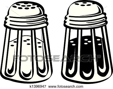 clip art of salt and pepper shaker clip art k1396947 search rh fotosearch com salt bae clipart salt clipart gif