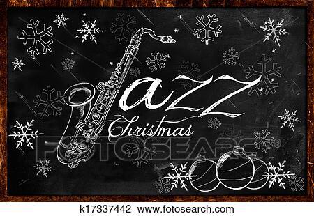 Christmas Music Background.Jazz Christmas Music Background Drawing