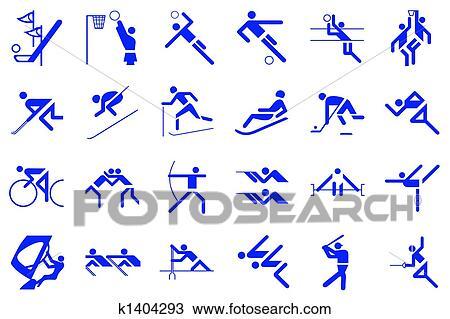 Jogos Olimpicos Desenho K1404293 Fotosearch
