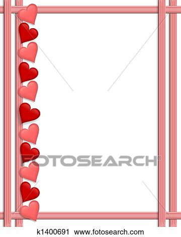 Clipart Of Valentines Day Hearts Border K1400691 Search Clip Art