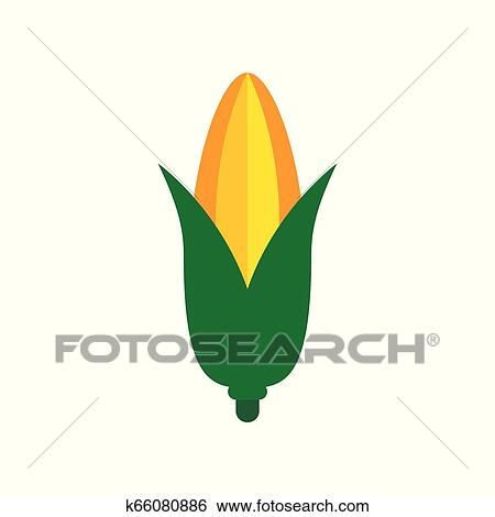 Vector Corn Icon Symbol Of Healthy Food Illustration Food Sign Isolated On White Background Clip Art K66080886 Fotosearch