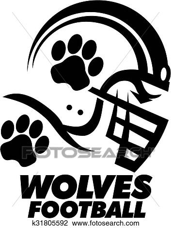 Clipart Of Wolves Football K31805592