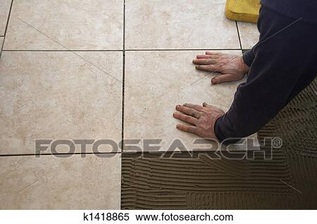Banque d\'Image - carreau ceramique, installation k1418865 ...