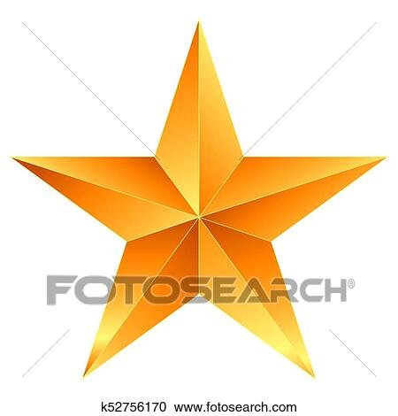 Christmas Star Images Clip Art.Christmas Star Orange 5 Point Star Isolated On White Clipart