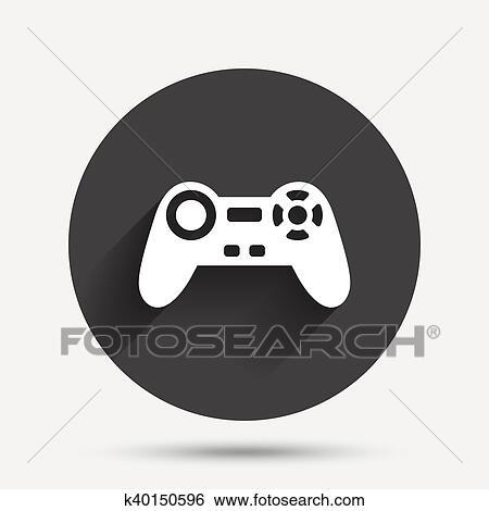 Clip Art Of Joystick Sign Icon Video Game Symbol K40150596