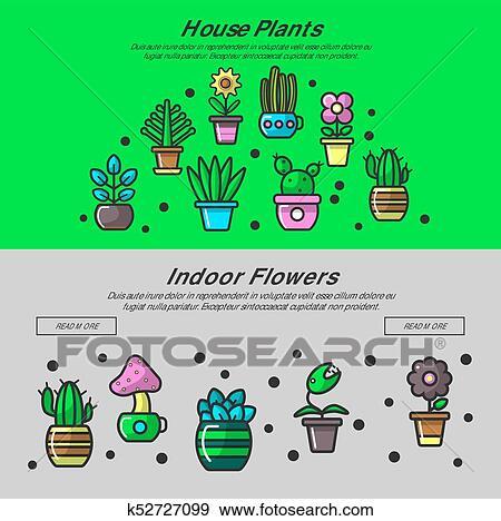 Clipart Maison Plante Et Jardin Maison Fleurs Vecteur Toile