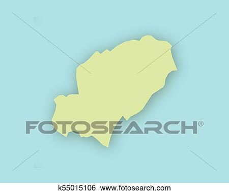Ibiza On World Map.Clip Art Of Map Of Ibiza With Shadow K55015106 Search Clipart