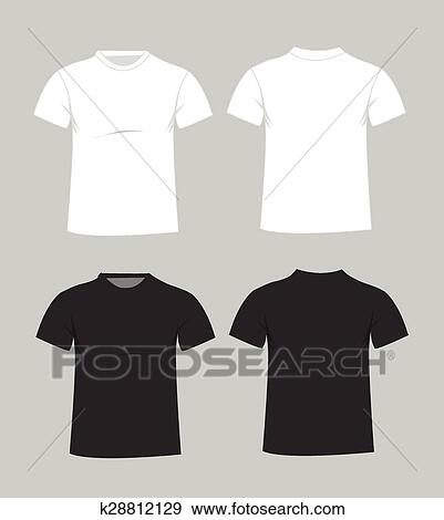 Clip Art of Blank t-shirt template k28812129 - Search Clipart ...