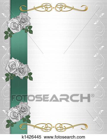 Stock Illustration Of Flowers Border Wedding Invitation K1426445