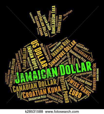 Stock Ilration Jamaican Dollar Represents Currency Exchange And Coinage Fotosearch Search Eps Clip