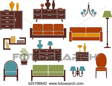 Mobilia e casa interno appartamento disegni elementi for Disegno casa interno