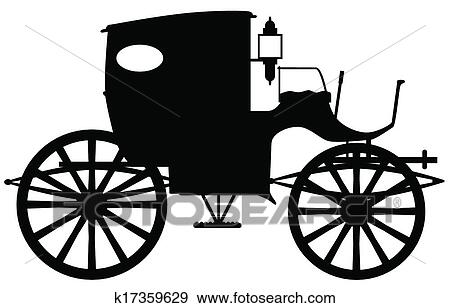 clip art of old carriage silhouette k17359629 search clipart rh fotosearch com carriage clip art free horse carriage clipart