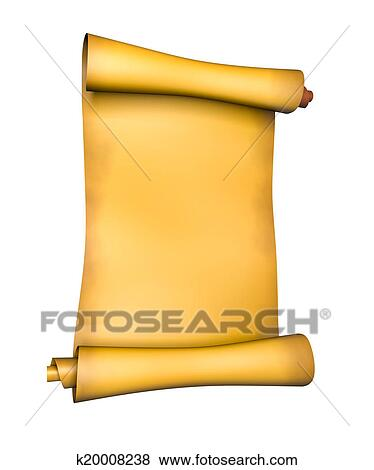 stock illustration of old parchment paper scroll k20008238 search