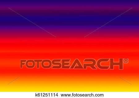 Blue Red And Yellow Color With Abstract Gradient Horizontal