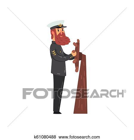 Vector Images, Illustrations and Cliparts: sailor captain wearing uniform |  Hqvectors.com