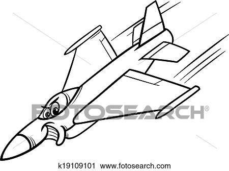 Jet Fighter Plane Coloring Page Clipart