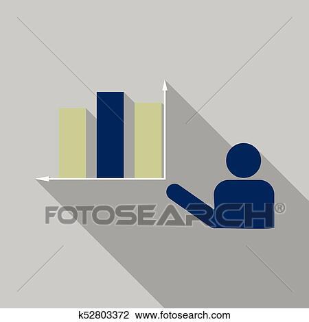 Man Shows In Schedule Chart On Table Vector Economic