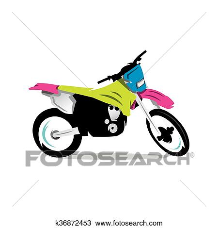 Vecteur Motocross Velo Dessin Anime Illustration Clipart