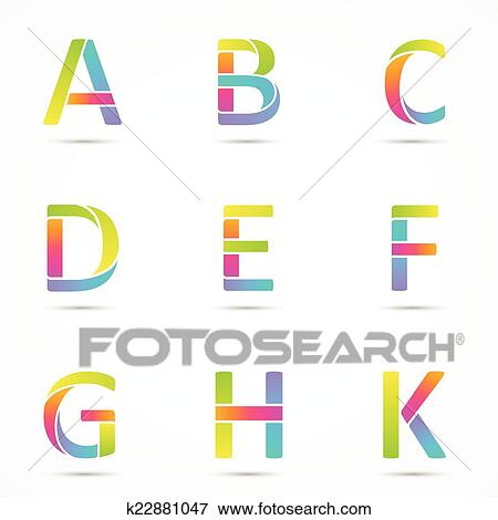 Clip art of color logo letters a b c d e f g h k font clip art color logo letters a b c d e spiritdancerdesigns Image collections