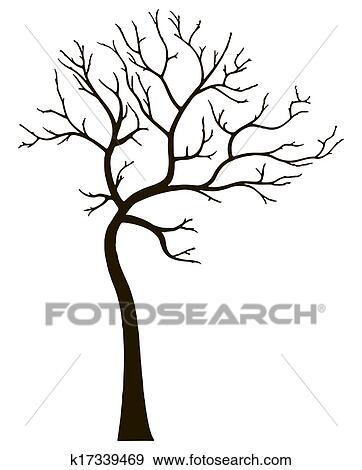 Colección De Ilustraciones Decorativo árbol Sin Hojas K17339469
