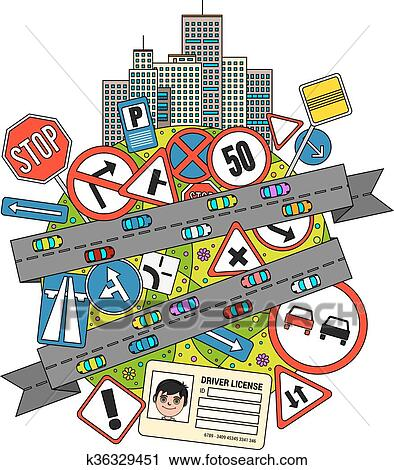 clipart of traffic signs and regulations k36329451 search clip art rh fotosearch com traffic clip art images traffic clipart images