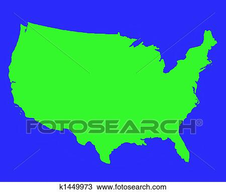 America Map Drawing.Drawing Of United States Of America Outline Map K1449973 Search