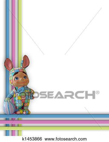 Stock Illustration of Easter Bunny Border Frame k1453866 - Search ...