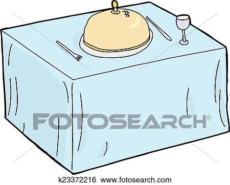 Gedeckter tisch gezeichnet  Clip Art - einzel, gedeckter tisch k23372216 - Suche Clipart ...