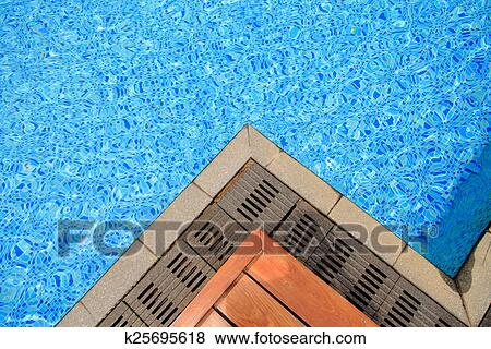Swimming pool tile and terrace Stock Photo