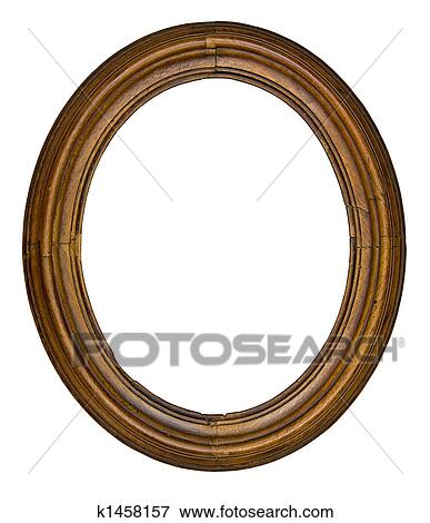 Vintage Oval Frame Stock Photo